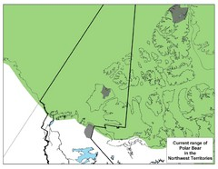 Polar Bear Range in Northwest Territories Map