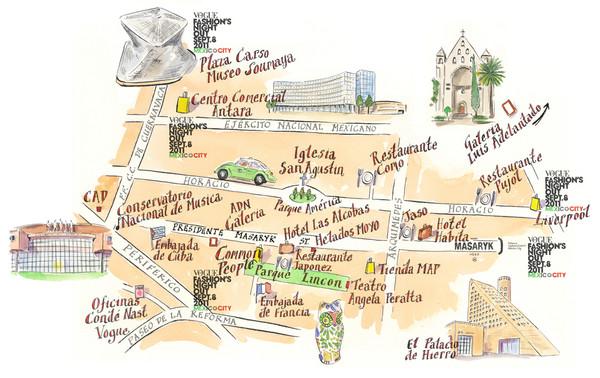 PolencoMexico City Map mappery – Tourist Map of Mexico City