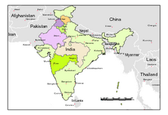 Political Map of India, Fully Editable in...