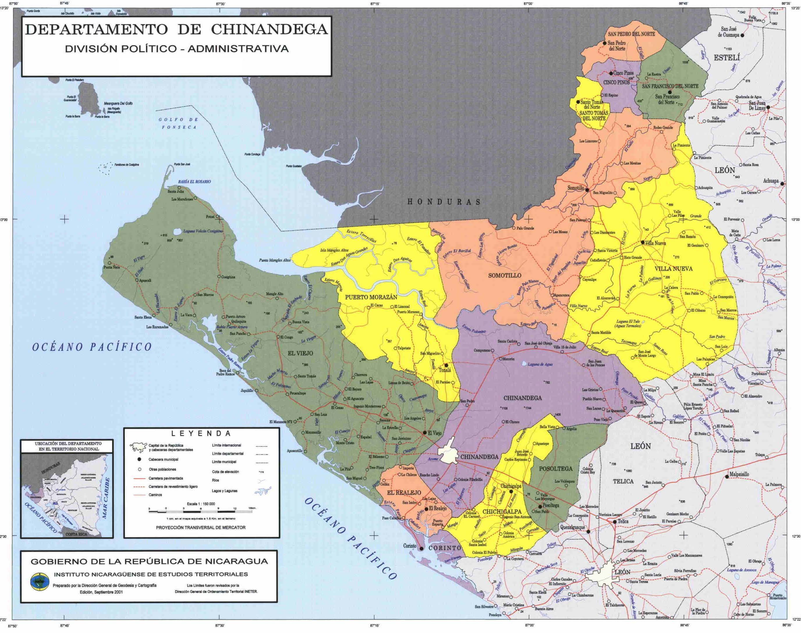 Political divisions of northeastern Nicaragua Map mappery