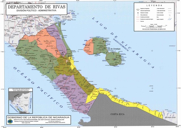 Nicaragua Maps Mappery - Political map of nicaragua