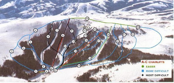 Pomerelle Ski Area Ski Trail Map
