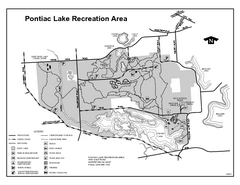 Pontiac Lake Recreation Area, Michigan Site Map