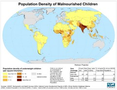 Population Density of Underweight Children World...