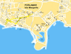 Porlamar Tourist Map