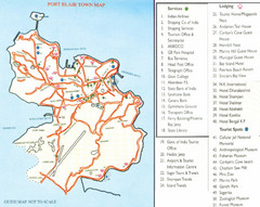 Port Blair Town Map
