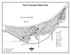Port Crescent State Park, Michigan Site Map