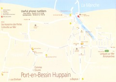 Port-en-Bessin Huppain Map