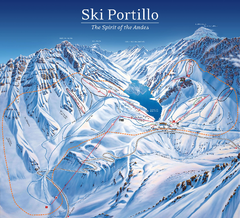 Portillo Ski Trail Map
