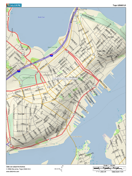 Portland, Maine City Map