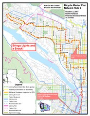Portland, Oregon Bike Map