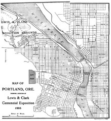 Portland, Oregon Map