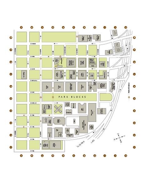Portland State University Map Portland OR mappery