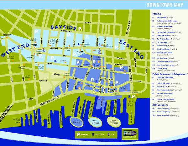 Portland Tourist Map Portland Maine mappery – Tourist Attractions Map In Maine