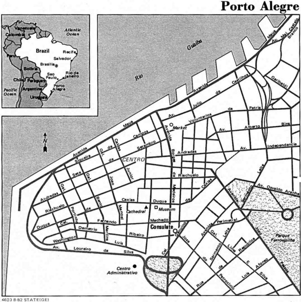 Porto Alegre City Map