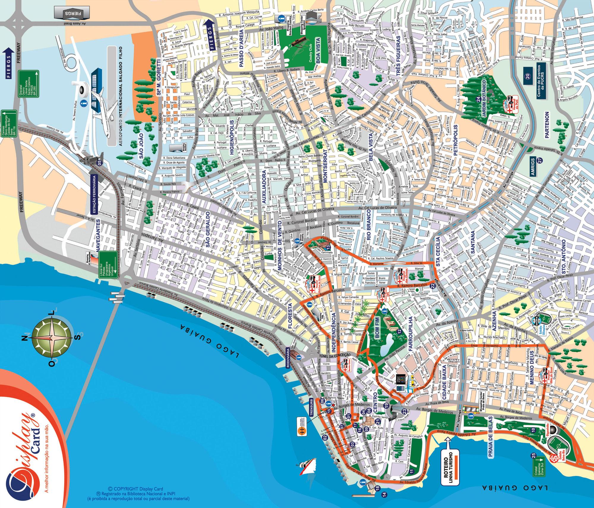 Porto Alegre Map Porto Alegre Rio Grande do Sul Brazil mappery – Porto Tourist Map