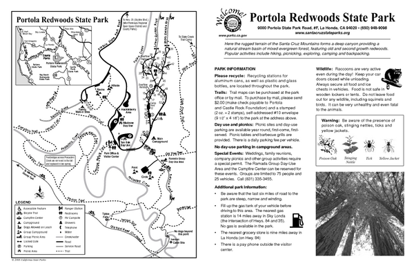 Portola Redwoods State Park Campground Map