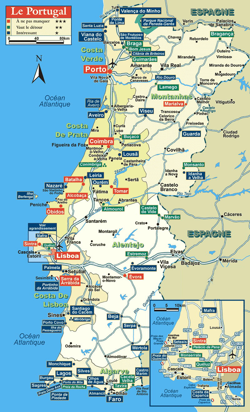 {Portugal Tourist Map Portugal mappery – Portugal Tourist Map