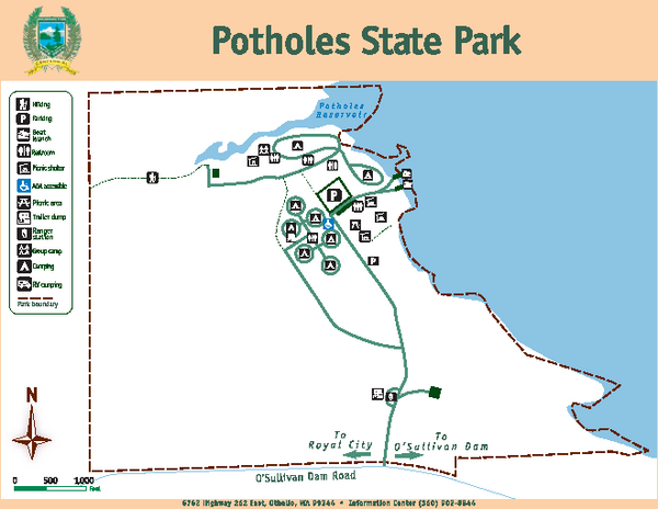 Potholes State Park Map
