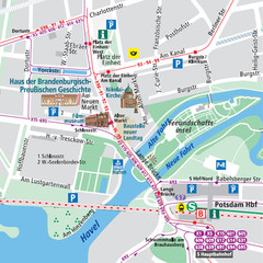 Potsdam City Center Map