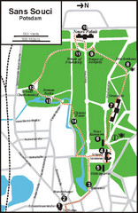 Potsdam Walking Tour Map