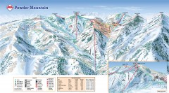 Powder Mountain Ski Trail Map