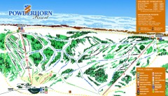 Powderhorn Ski Trail Map