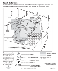 Powell Butte Nature Park Trail Map