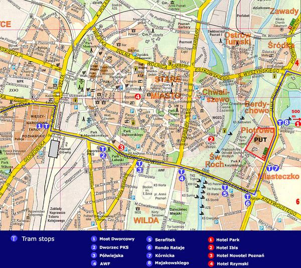 Poznan Tourist Map Poznan Poland mappery