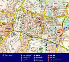 Poznan Tourist Map