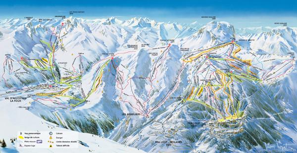 Pra Loup Ski Trail Map Pra Loup 04400 UvernetFours AlpesdeHaute