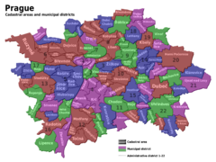 Prag Districts Map