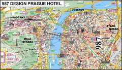 Prague, Czech Republic Tourist Map
