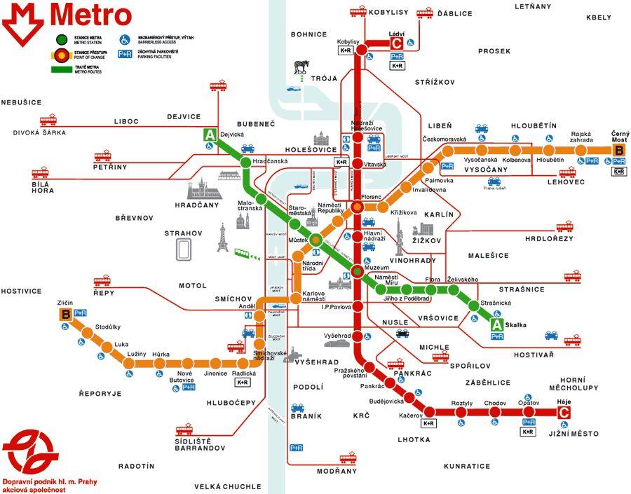 Prague Metro Map Prague Mappery