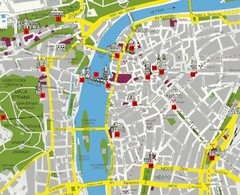 Prague Tourist Map