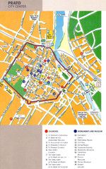Prato Tourist Map