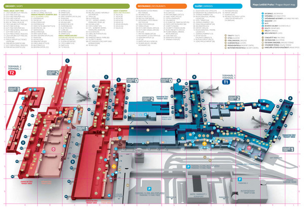 Prague Airport Map Fullsize Praugue Airport Map