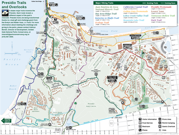 Presidio Trail and Overlook Map