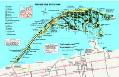 Presque Isle State Park map