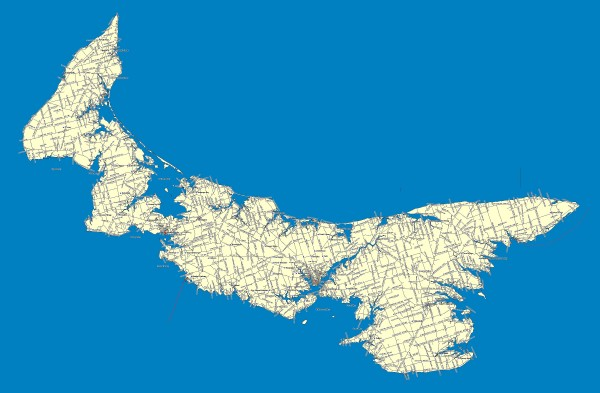 Prince Edward Island Road map