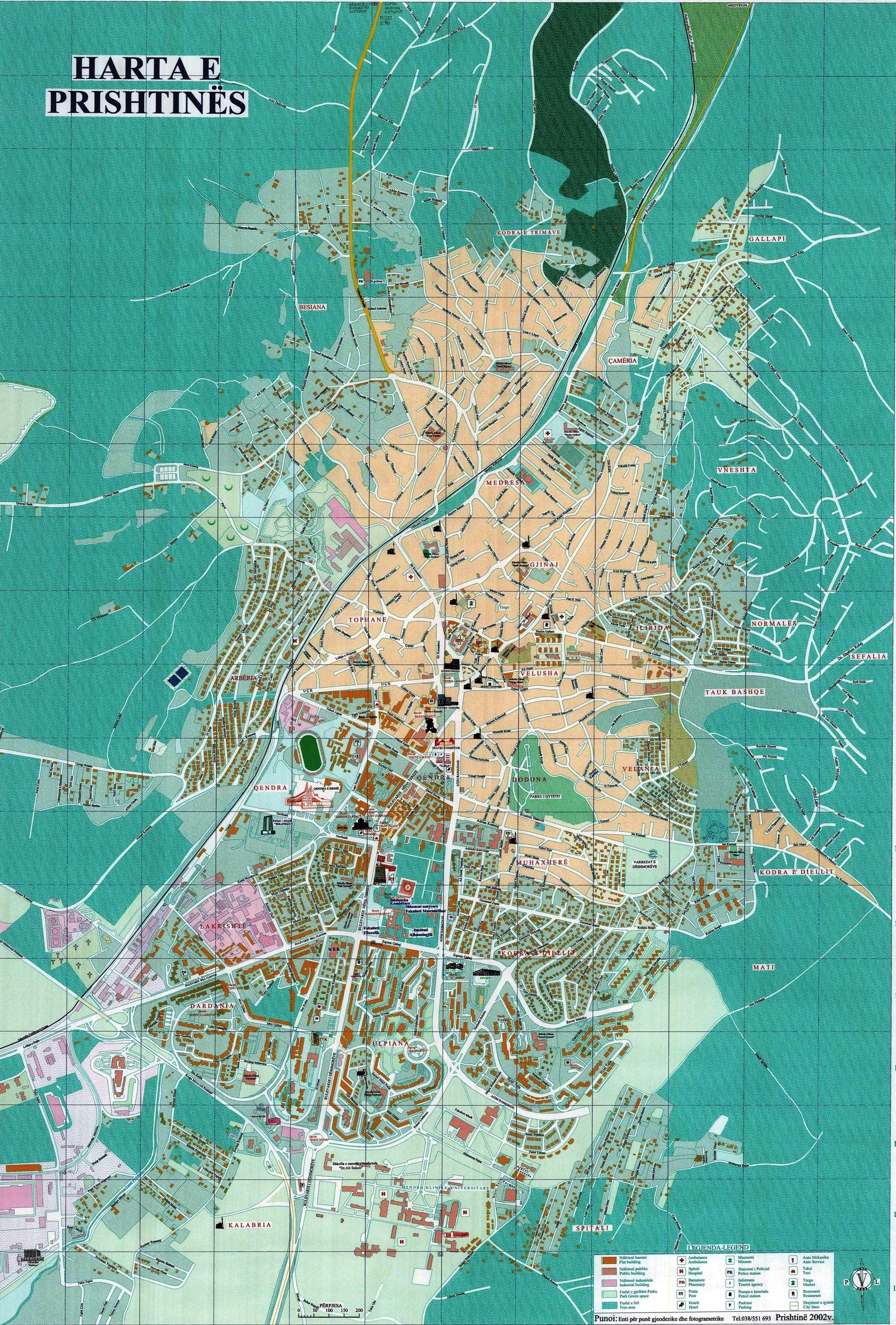 Pristina tourist map pristina kosovo mappery publicscrutiny Choice Image