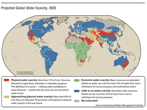 View LocationView Map. click for. Fullsize Projected Global Water Scarcity