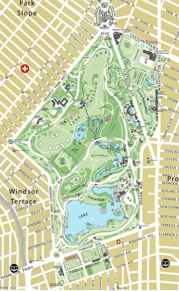 prospect park map prospect park brooklyn new york mappery