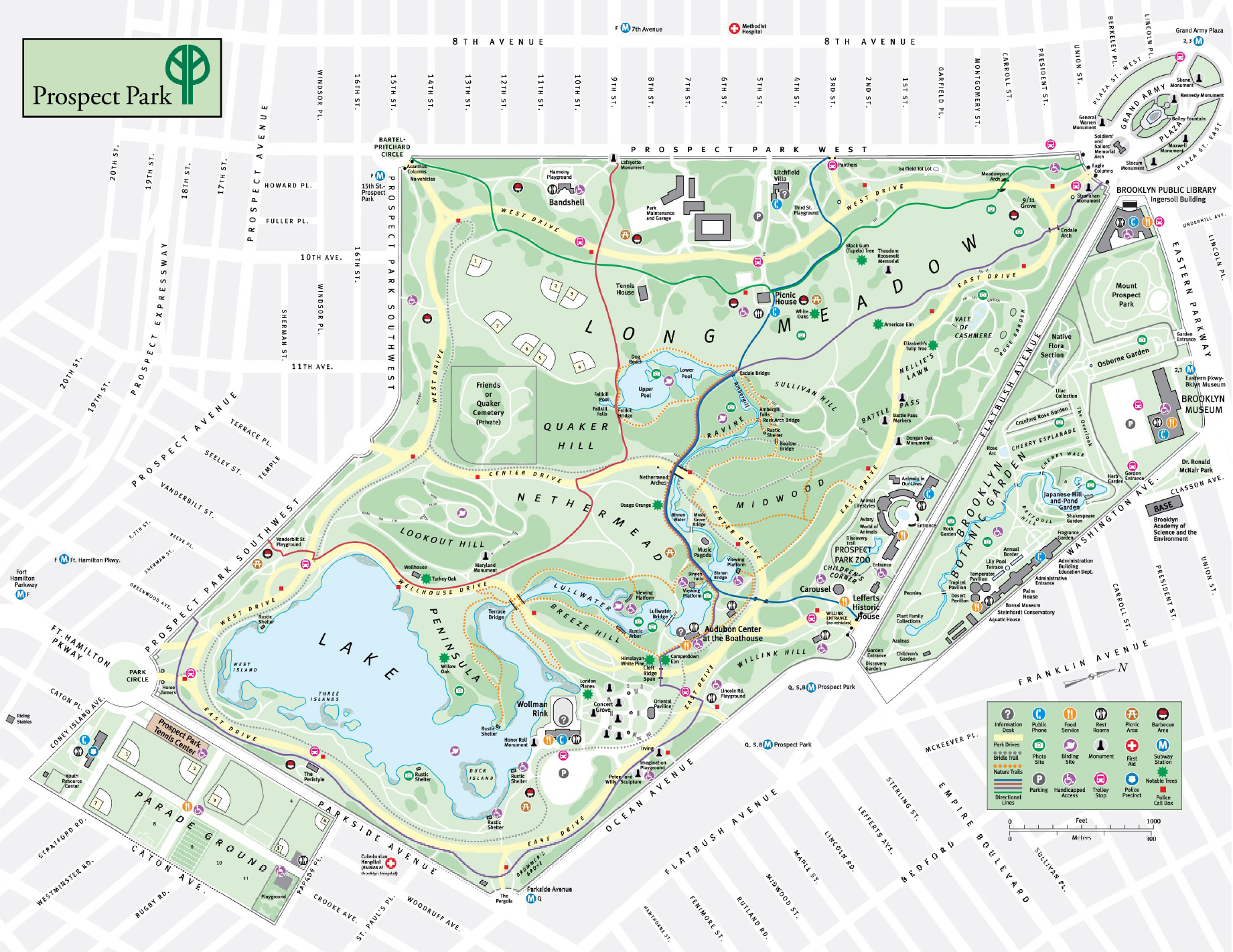 Prospect Park Map - Prospect Park Brooklyn New York • mappery