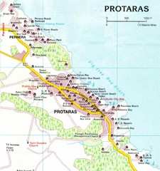 Protaras Cyprus Tourist Map