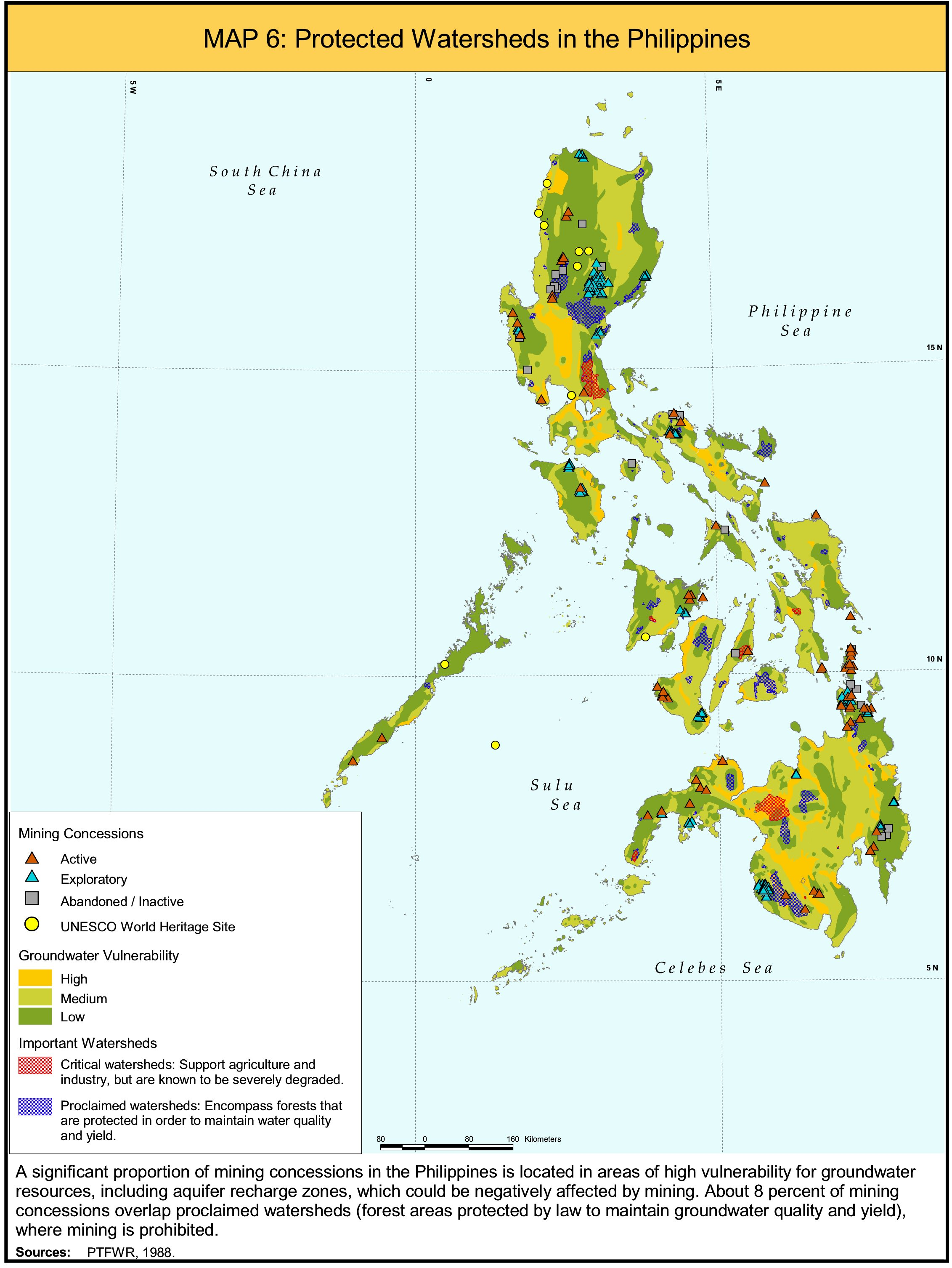 Protected Watersheds in Philippines Map  Philippines  mappery