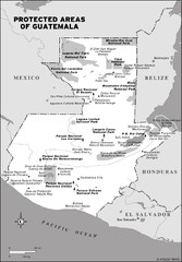 Protected areas of Guatemala Map