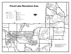 Proud Lake Recreation Area, Michigan Site Map