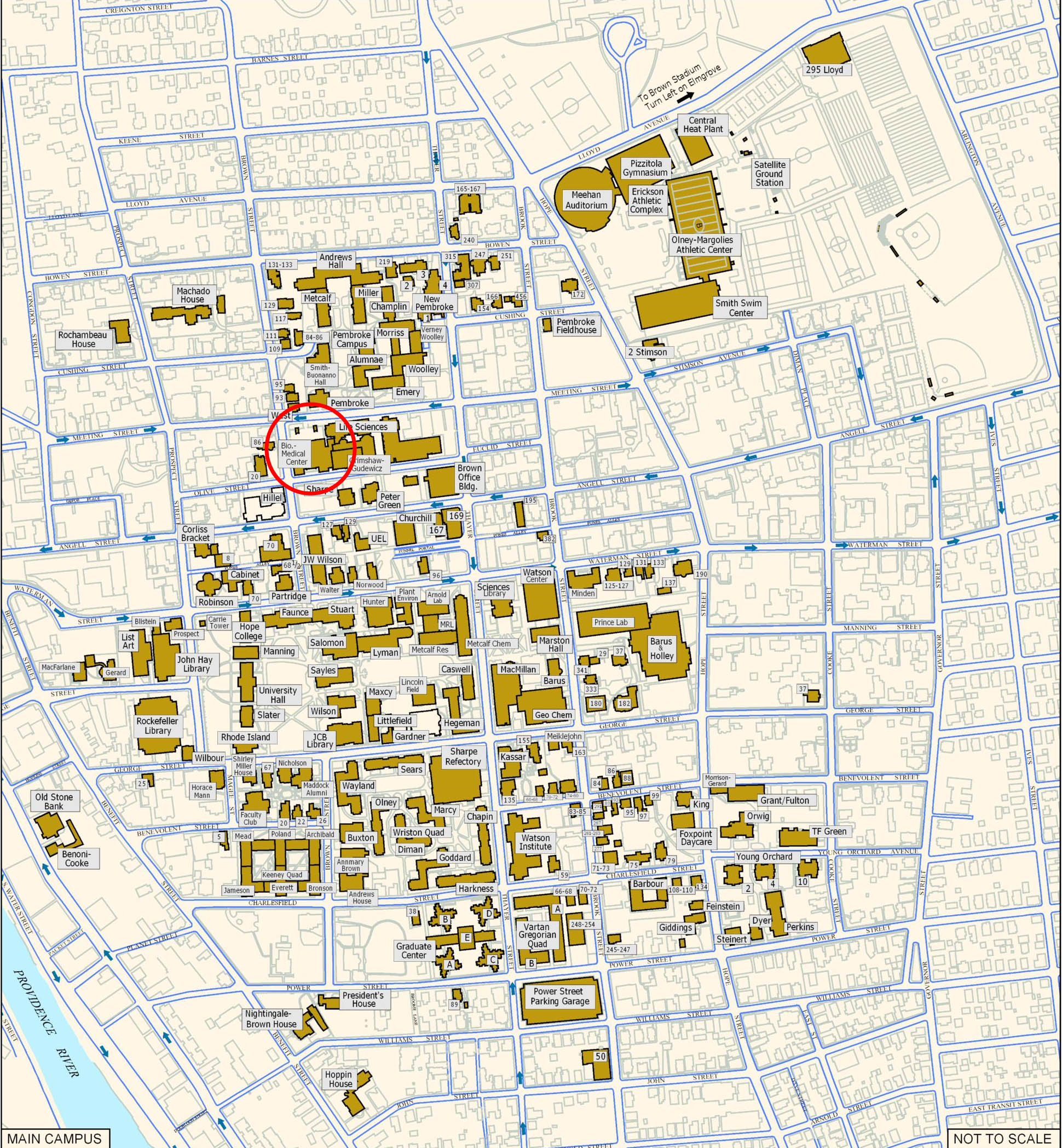 Providence Rhode Island City Map