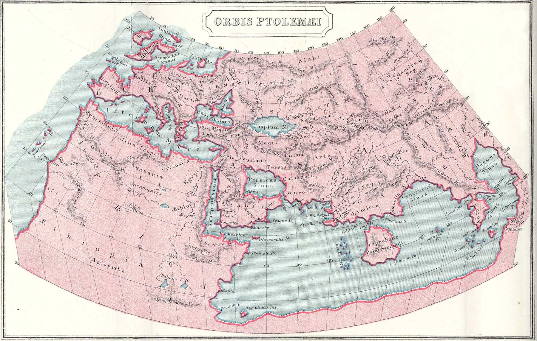 Ptolemy World Map World Mappery